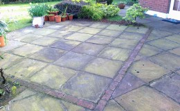 Indian-sandstone-Patio-befo