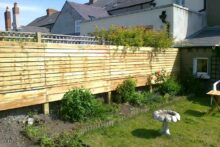 Garden tidy and fence erected